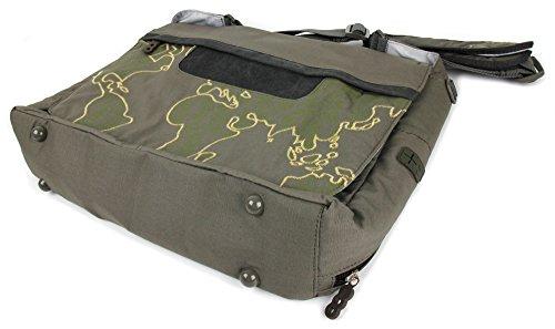 DURAGADGET Gepolsterte und wasserabweisende Laptoptasche für Panasonic Toughbook 52/53 / F9 mit Kaki-Globetrotter-Design