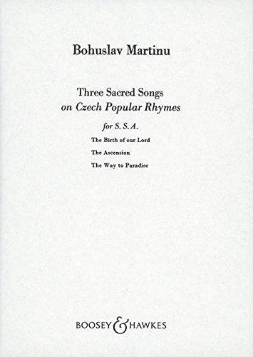 3 Sacred Songs on Czech Rhymes
