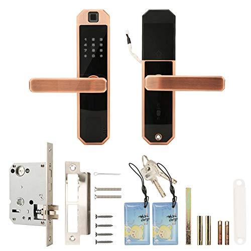 Tastatur-Karten-Kennwort-Fingerabdruck-Verschluss, intelligenter Touch Screen Tastatur-Karten-Kennwort-Fingerabdruck entriegeln Türschloss mit mechanischem Schlüssel
