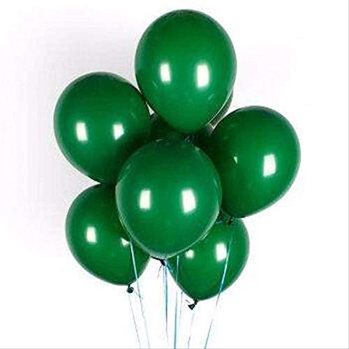 FINJ Ballon 30 Stücke 12 Zoll Gold Silber Schwarz Metall Latex Luftballons Hochzeit Dekorationen Matte Helium Geburtstagsfeier Dekoration Erwachsene 20 Stücke Dunkelgrün