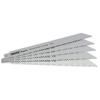 Draper Expert Bi-Metall Stichsägeblätter 6Tpi für Holz und Nägel 5er Pack