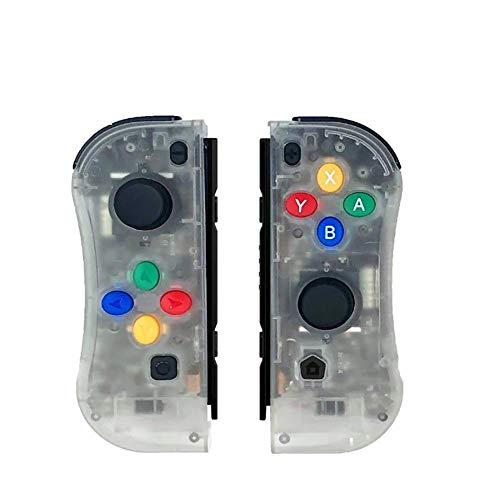 Wireless Controller Für Nintendo Switch, EIN Paar Kabelloser Pro Gamepads Für Nintendo Switch (Produkte Von Drittanbietern),Clear Current Sensing Switch
