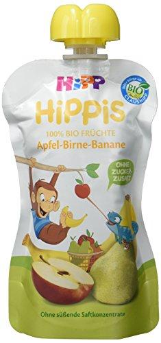 HiPP Apfel-Birne-Banane - Anton Affe, 6er Pack (6 x 100 g)