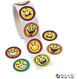 Aufkleber lachende Smileys Sticker 100 Stück Palandi®