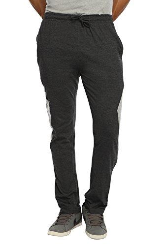 HAPPY HOURS Men's Cotton Track Pant (Black, Large)
