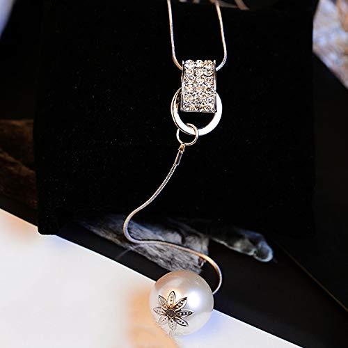 Wwf perla ciondolo catena maglione set strass collana lunga moda accessori accessori personalità selvaggia femminile,a,78 centimetri