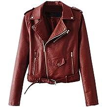 Chaquetas Para Mujer Otoño Invierno Blazers Chaqueta Con Cremallera Casual  Cazadoras De Cortos De Cuero Pu b0098858050c