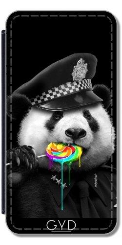 Leder Flip Case Tasche Hülle für Apple iPhone 6 Plus / 6S Plus - Lutschbonbonknall Cop by Adam Lawless (Bären-lutscher)