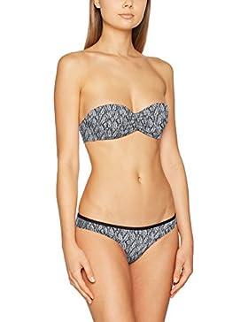 O 'Neill Print Bikini Bikinis, Mujer, Print Bandeau Bikini, Black AOP with White, 34B