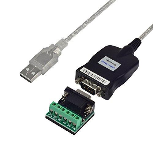 Usb 2.0-puffer (MENGS® USB 2.0 zu RS232 / RS485 / RS422 DB9 seriellen Gerät Konverter mit 1M Adapter Kabel)