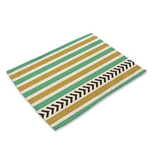 NIKIMI Geometrische Streifen Muster Tischset Einfache Serviette Abendessen Tee Kaffee Pads für Hochzeit Home Küche Dekoration