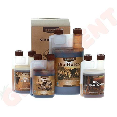 CANNA Pack de Abono/Fertilizantes para cultivo Bio (Starter Kit) -