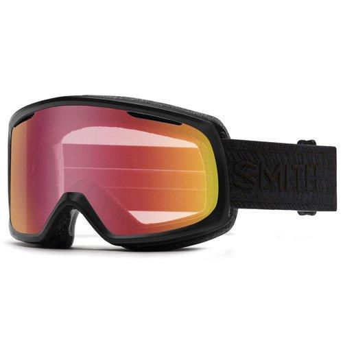 Smith Damen RIOT Skibrillen, Rot Sensor Mirror/Black Eclipse Schwarz, One Size