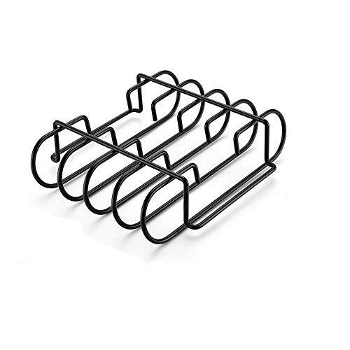 Bar.b.q.s Rippchenhalter aus emailiertem Porzellan, stabilem Stahl, für Keramikgrills von Weber, Charbroil, Kenmore, Master Forge, Brinkmann, Green Egg, Primo und Kamado -