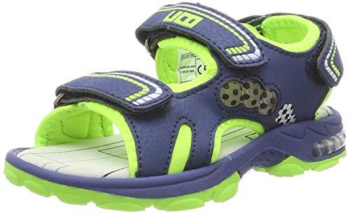 Lico Boys' Spotlight V Ankle Strap Sandals, Blue Blau/Lemon, 11 UK Child