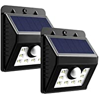 Mpow Solar Security Lights,  3-in-1 Solar Lights Motion Sensor Lights Outdoor Waterproof Bright Lights with 3 Intelligient Modes for Garden, Fence, Stairs, Yard or Driveway  (Pack of 2, 8 LED)