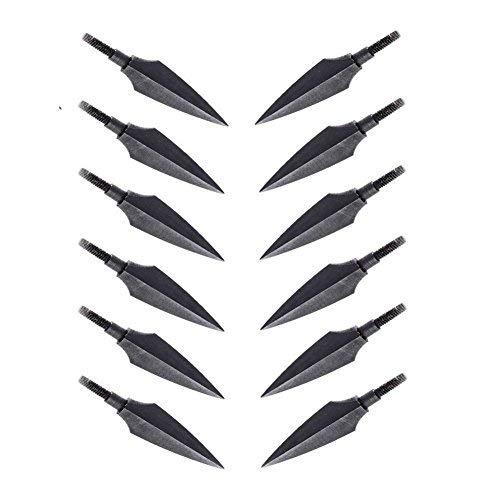 IDEAW 12er 150 Grains Pfeilspitzen Jagdspitzen Traditionelle Außen Jagd Pfeilspitze brünierte Armbrust Bogen  brünierte  Schraubspitze Bogensport