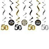 Girlande 50 Dekoration zum Geburtstag Jubiläum Geburtstags-Feier-Party. Von Haus der Herzen ®