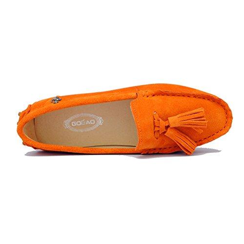 Minitoo , Sandales Compensées femme Orange
