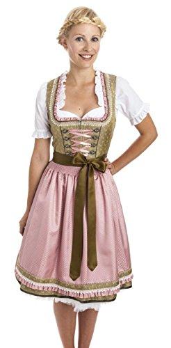 Feminines Dirndl 'Melina' (rosa-grün) Size 40