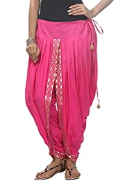 Nika Women's Cotton Hand Block Printed Dhoti Salwar_Pink