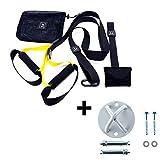 O RLY Suspension Trainer Kit, TRX Training Schlingentrainer Türanker + Schlaufenhalterung | Sling-Trainer (P3 Pro 1 + X-Mount)