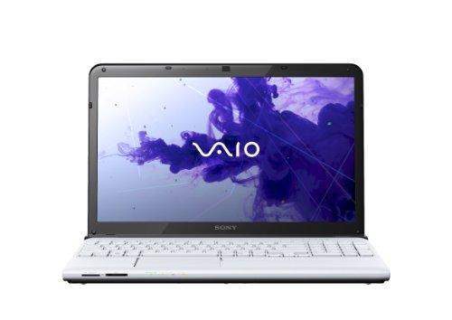 Sony VAIO SVE1512C6EW 39,5 cm (15,5 Zoll) Laptop (Intel Celeron B980, 2,4GHz, 4GB RAM, 500GB HDD, Intel HD, DVD, Win 8) weiß