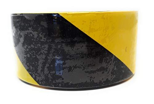 DWT-Germany 101265 25m Absperrband Gelb Schwarz Flatterband Markierungsband Warnband Sicherheitsband (Schwarz N Gelb)