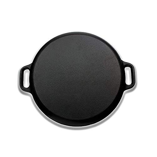 Premium-Qualität Cast Iron Pizza Pan-Vorgewürzte Runde Oven Griddle/Grill-12 ' ' Durchmesser-geeignet für alle Kinds Of Ovens-Heats & Bakes Evenly Lodge Cast Iron Pizza Pan