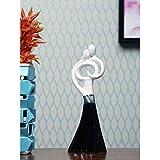 @home by Nilkamal Noir Love Couple Showpiece, Black & White