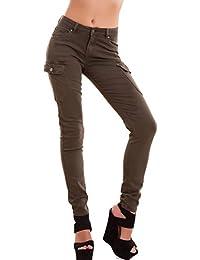 56a5ece6d18e5d Toocool - Jeans Donna Pantaloni Cargo tasconi Skinny Aderenti Elasticizzati  Nuovi EY02