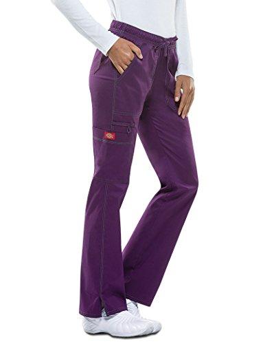 Gen Flex Frauen Low Rise Straight Leg Scrub Hose X-Large Petite Aubergine (Petite Low-rise-scrub-hose)