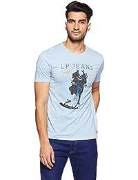LP Jeans By Louis Philippe Men's Solid Slim Fit T-Shirt - B078HTB9WG