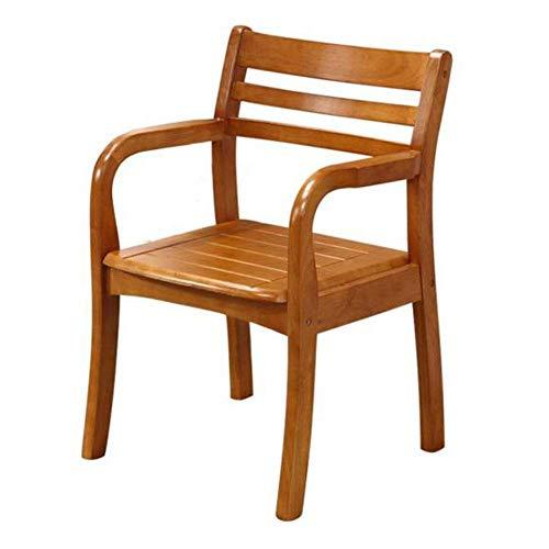 MJK Sillas de comedor, sillón de madera de caucho Estructura de madera sólida Desayuno de oficina en el hogar, sala...
