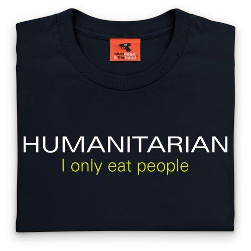 Humanitarian T-Shirt, Herren Schwarz