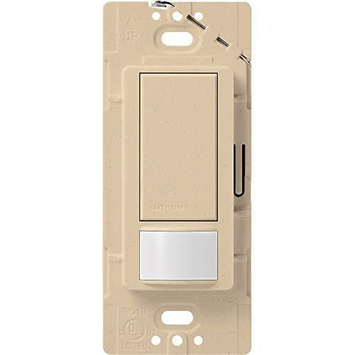 Lutron Maestro Motion Sensor switch, no neutral required, 250 Watts Single-Pole, MS-OPS2-DS, Desert Stone by Lutron (Lutron Switch-desert Stone)