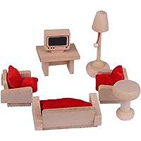 PIXNOR Mueble para casas de muñecas, sala de estar Mueble
