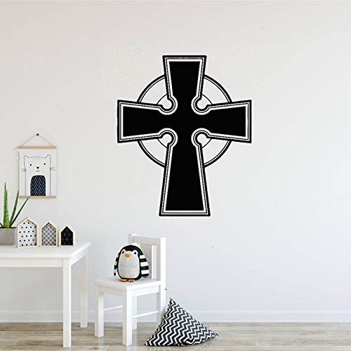 zhuziji Mädchen Prinzessin Wall Stickerschurch Kreuz Bibel Jesus Christentum Religion PVC Wasserdichter Hintergrund Restaurant, Flur Wandtattoos56x67cm