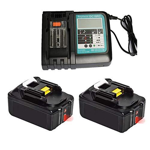 Chargeur rapide de rechange avec 2 batteries 18 V 4,0 Ah (LED)...