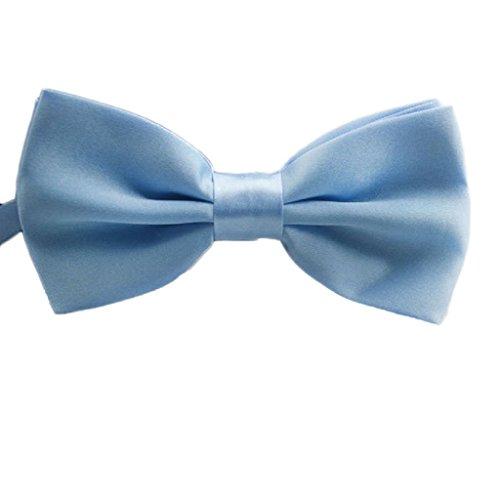 Tonsee® Mode classique nouveauté Mens réglable Tuxedo mariage Bow Tie cravate (Bleu Clair)