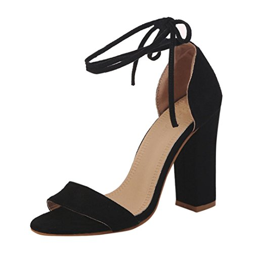 Vectry High Heels Sandalen Plateau Sandaletten Damen Riemchen Schuhe Offen Stiefeletten Schuhe...