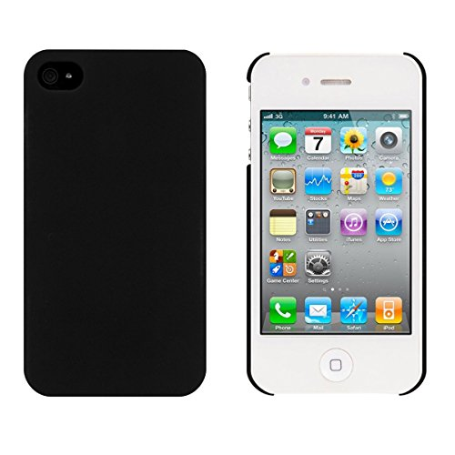 kwmobile Hülle für Apple iPhone 4 / 4S - Backcover Case Handy Schutzhülle Kunststoff - Hardcase Cover Schwarz