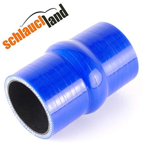 Hump Silikonschlauch ID 38mm blau*** Gummischlauch flexibel Verbinder Wulst Rohr