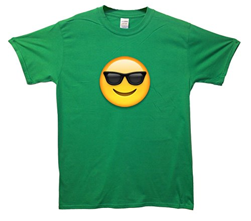 Sunglasses Face Emoji T-Shirt Grün