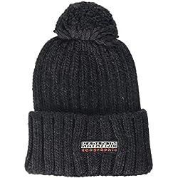 Napapijri Fitzegerald Bonnet, Gris (Dark Grey Mel 197), Unique (Taille Fabricant: OS) Homme