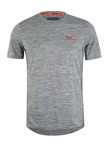 Superdry Herren Active Training S/S Tee T-Shirt, Vapour Grey Space Dye, L - Dye Herren T-shirt