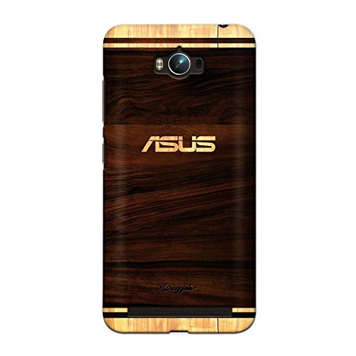 CrazyInk Premium Stylish Printed Designer Scratch Proof Hard Back Cover for Asus Zenfone Max, 5.5 Inches (Brown, CIWOODLOGONEW008)