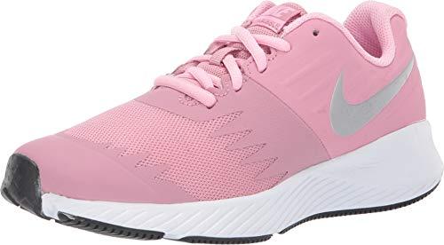 Nike Star Runner (GS), Scarpe Running Donna, Multicolore (Elemental Metallic Silver/Pink 601), 38.5 EU