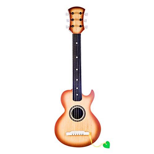 YAKOK Kinder Gitarre 6 Saiten Mini Kindergitarre Spielzeuggitarre Musik Instrumente Spielzeug für Kinder 3-12 Jahre Mädchen und Jungen Anfänger (Holz)