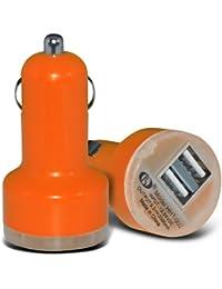 Chargeur de voiture ExclusiveTo Elite Accessoire 12v (Orange) Huawei Honor 6 Bullet Duel Port Voyage USB Universal